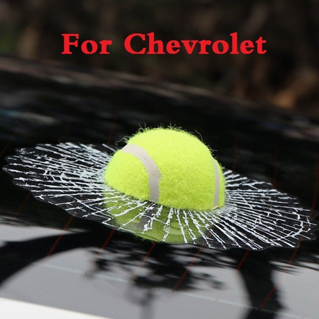 Nuevo estilo de coche 3D tenis béisbol golpeó la pegatina de cristal para Chevrolet SS suburbano Tahoe Tracker TrailBlazer Traverse Viva Volt