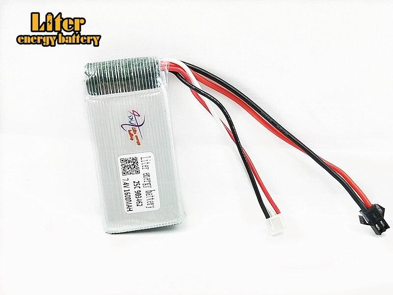 Batería de litio cilíndrica de 3,7 V, 1600mAH, YX693, YX709, Helicóptero De control Remoto, 3,7 V, 25C, descarga de la batería lipo 903462