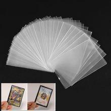 Fundas de cartas 100 Uds. Juego de cartas mágico Tarot tres reinos cartas de póquer Protector