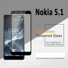 For Nokia 5.1 Tempered Glass For Nokia5.1 Glass 9H Full Cover Screen Protector for Nokia 5.1 2018 Pr