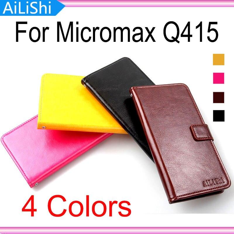 Marca para Micromax Q415 cubierta protectora de lujo piel PU bolso cartera ranura para tarjeta de alta calidad Flip Funda de cuero