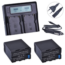2 pièces BP-U60 BPU60 BP U60 Rechargeable Li-ion 5200 mAH batterie + LCD Kits de chargeur rapide pour Sony XDCAM EX PMW100 PMW150 PMW160 PMW200
