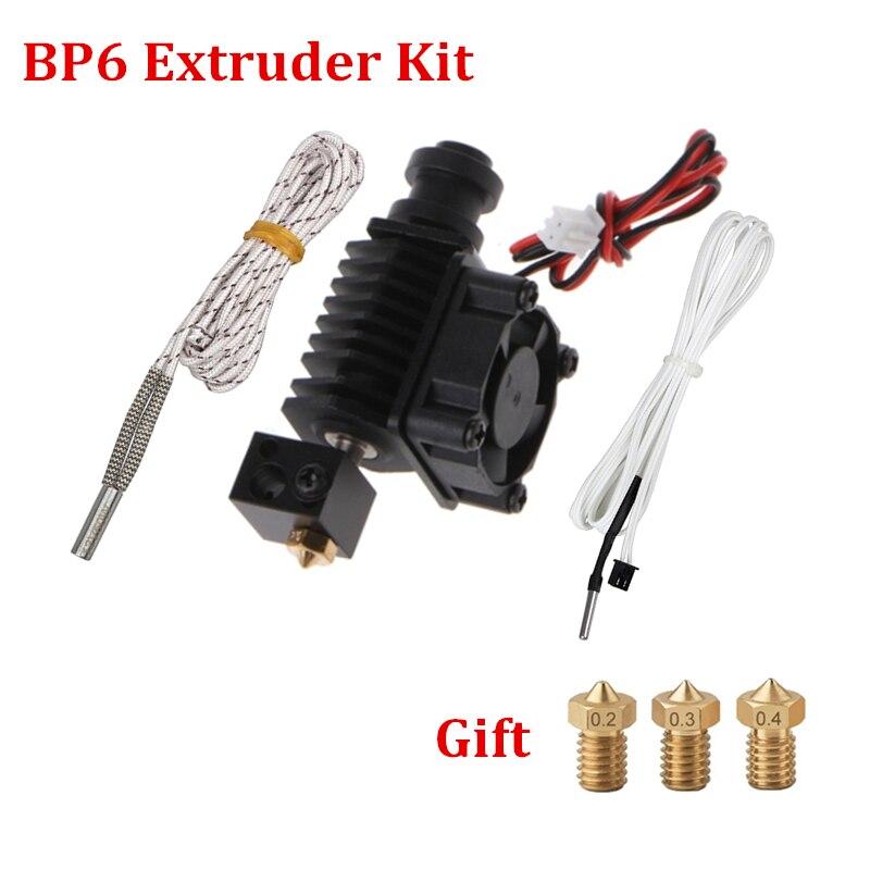 Top 3D piezas de la impresora BP6 J-extrusora de salida Hotend Kit de E3D V6 extrusora ventilador de refrigeración soporte termistores Bowden para 1,75mm filamentos