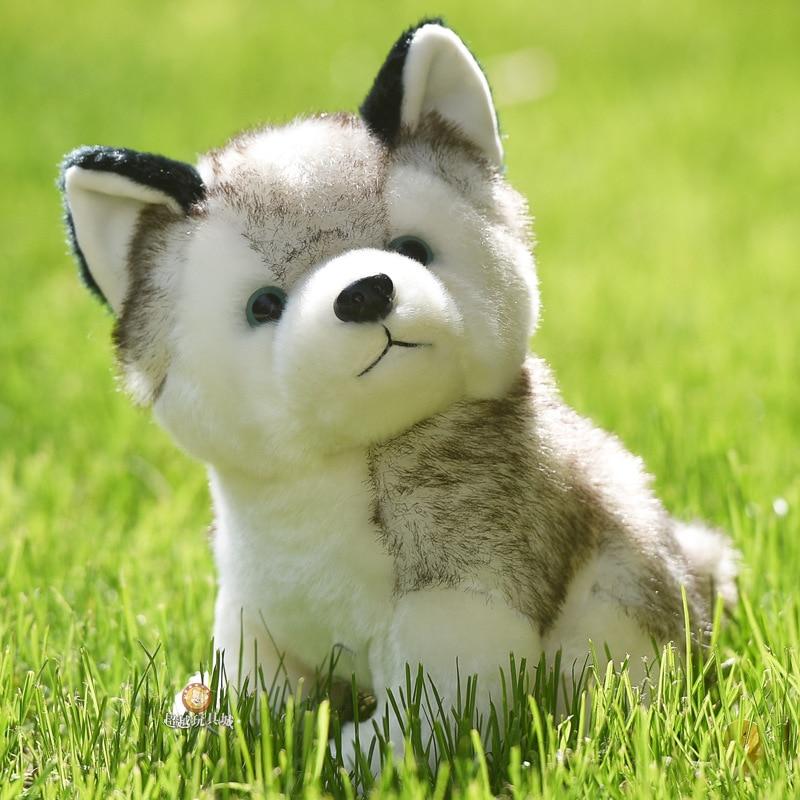 10 Styles Husky Toy , Kawaii Puppy Dog Stuffed Animal Doll Cute Simulation Keychain Plush For Kid Christmas Gift