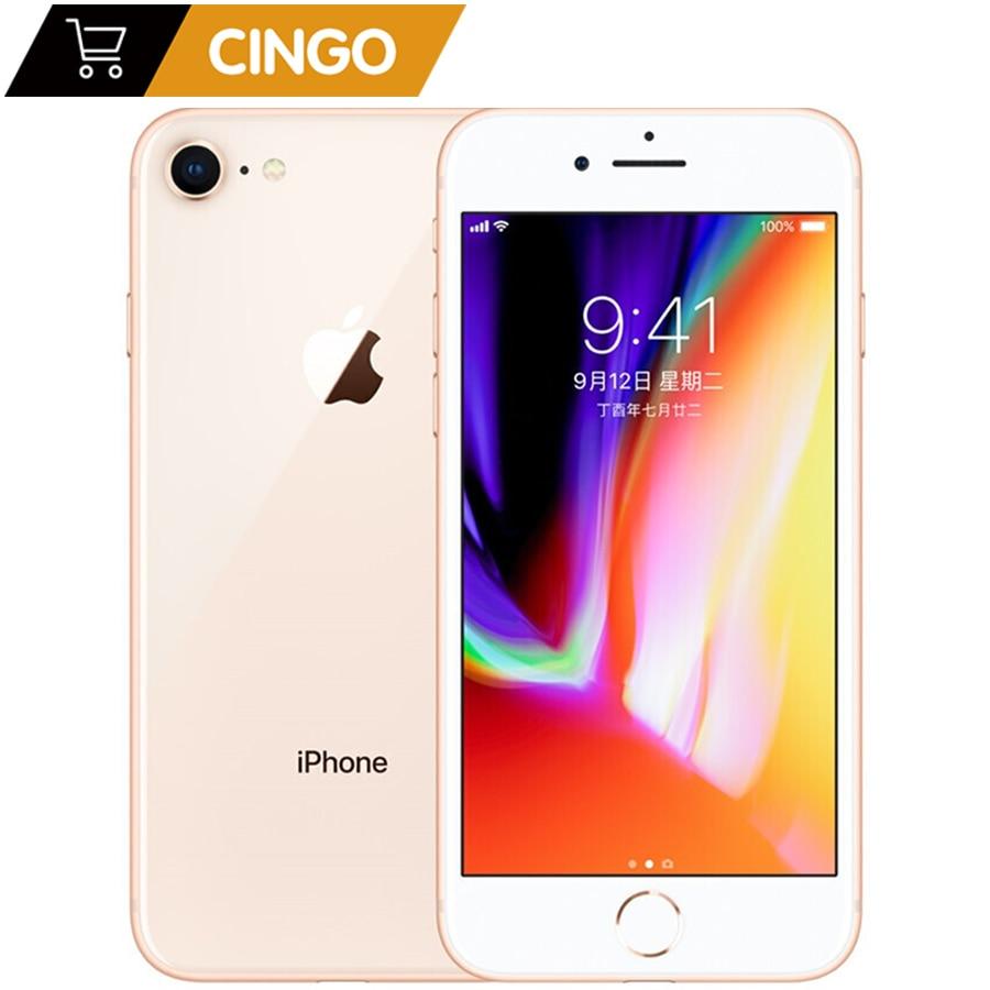 Apple – authentique smartphone iphone 8, Hexa Core, 2 go de RAM, 64 go de ROM, écran tactile 3D de 1821 pouces, caméra 12 mpx, LTE, empreintes digitales, batterie de 4.7 mAh