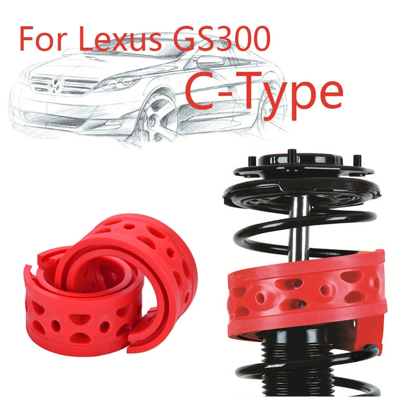 Jinke 1 par tamaño-C amortiguador trasero SEBS potencia de parachoques cojín amortiguador primavera Buffer para Lexus GS300
