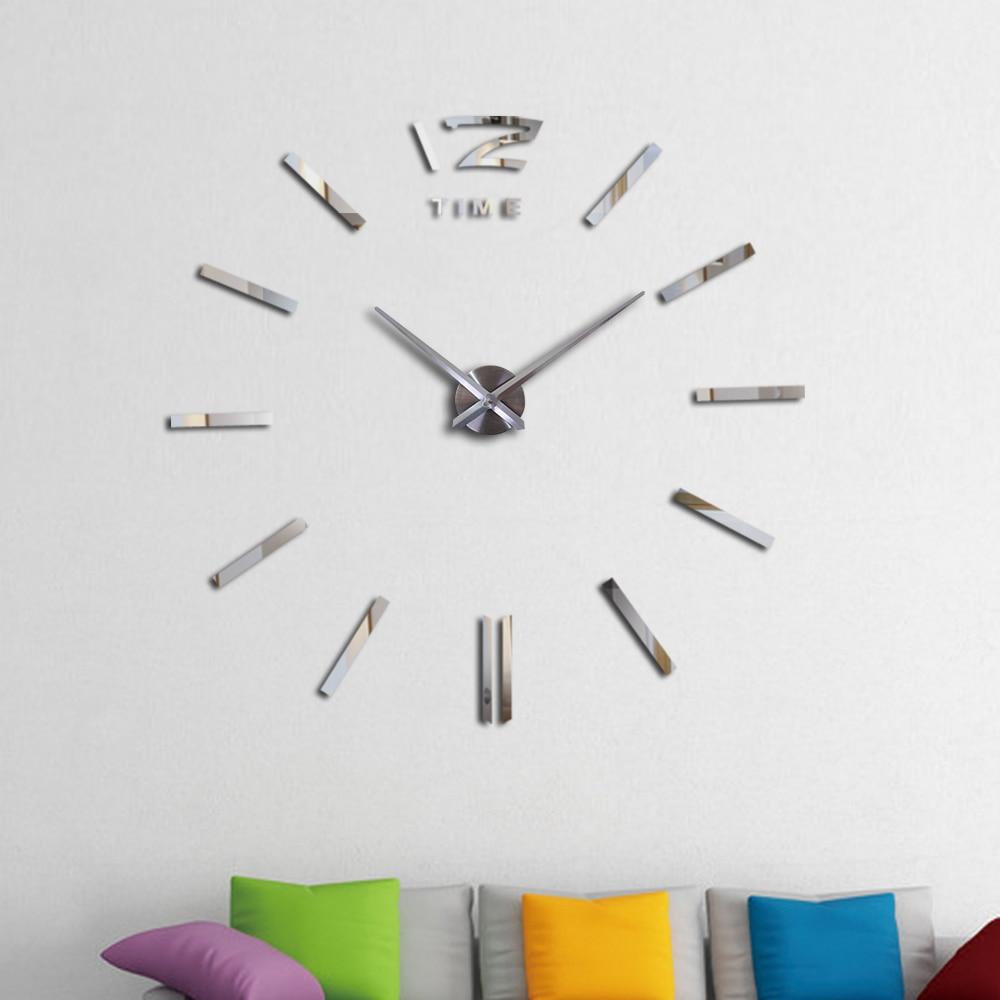 Лучшие продажи Diy акриловые зеркальные настенные часы Европа большие кварцевые часы натюрморт часы гостиная украшение дома наклейки