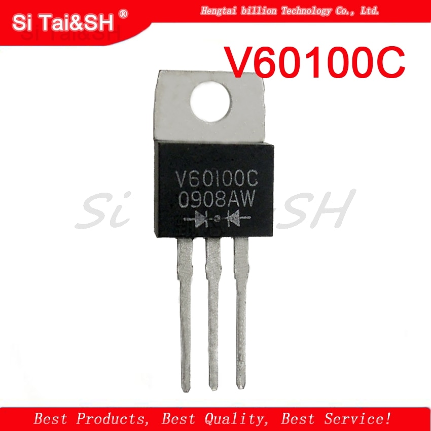 10 unids/lote V60100C MBR60100CT-220 diodo rectificador de Schottky 60A 100V nuevo original