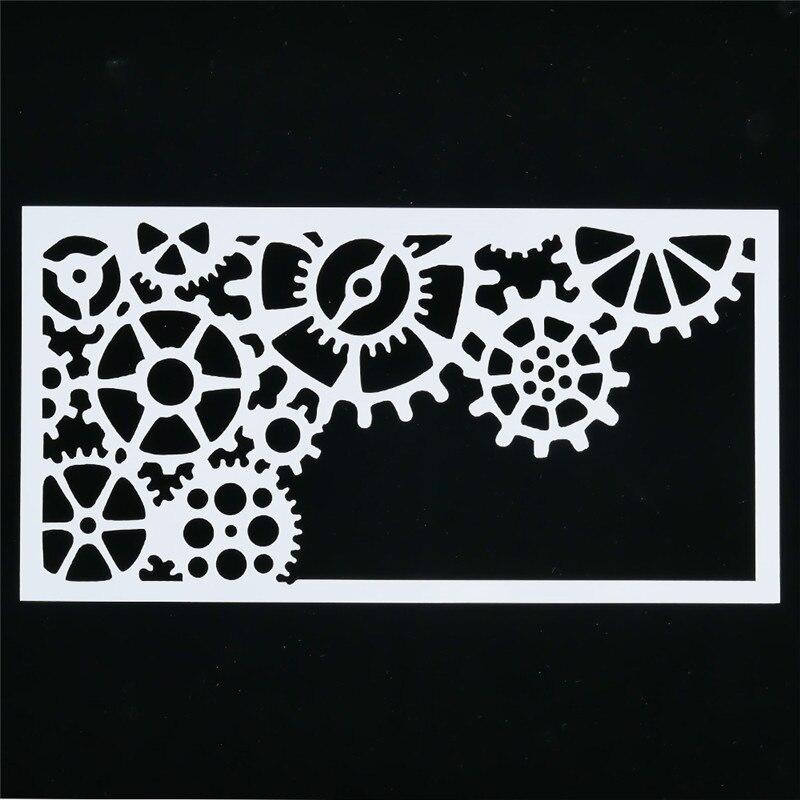 1 pièces Durable voiture roue forme réutilisable pochoir aérographe peinture Art décoration bricolage ferraille réservation Album artisanat livraison directe