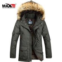Livraison gratuite! Hiver moyen-long col de fourrure mince vêtements pour hommes épaississement loisirs grande taille à capuche vers le bas manteau/S-6XL