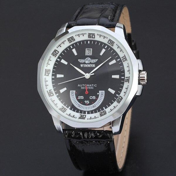 Relojes de calidad WINNER, diseño informal con tallado de esqueleto, caja de dorado Negro, reloj de pulsera mecánico, bisel de engranajes de moda