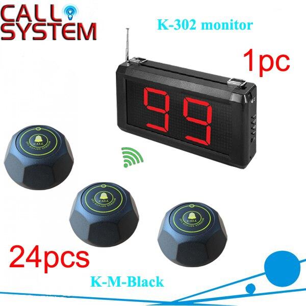 Электронная система вызова официанта 1 K-302 дисплей стены Показать 2-значный номер и 24 дистанционного зуммера CE прошел