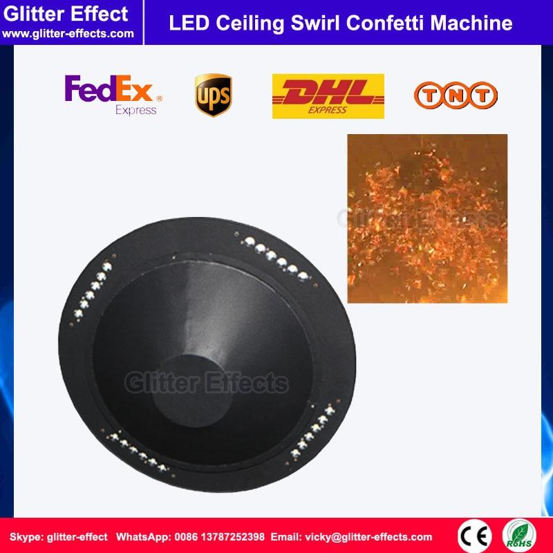 DJ escenario efecto especial color papel LED remolino flotante techo confeti soplador máquina Disco bar LED confeti flying shooter