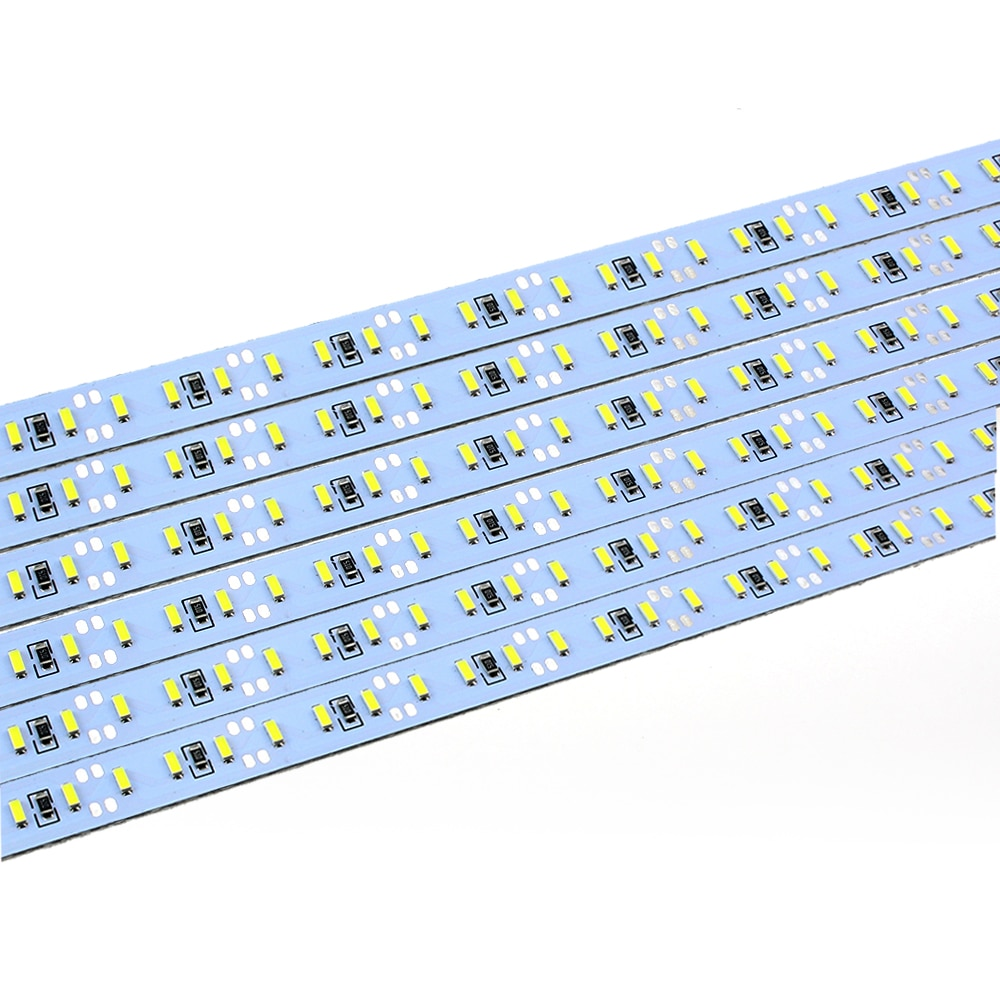 Chip de importación brillante 4014 SMD 144 LED DC 12 V Luz de barra Led dura, tira de luces led 1 m blanco/blanco frío