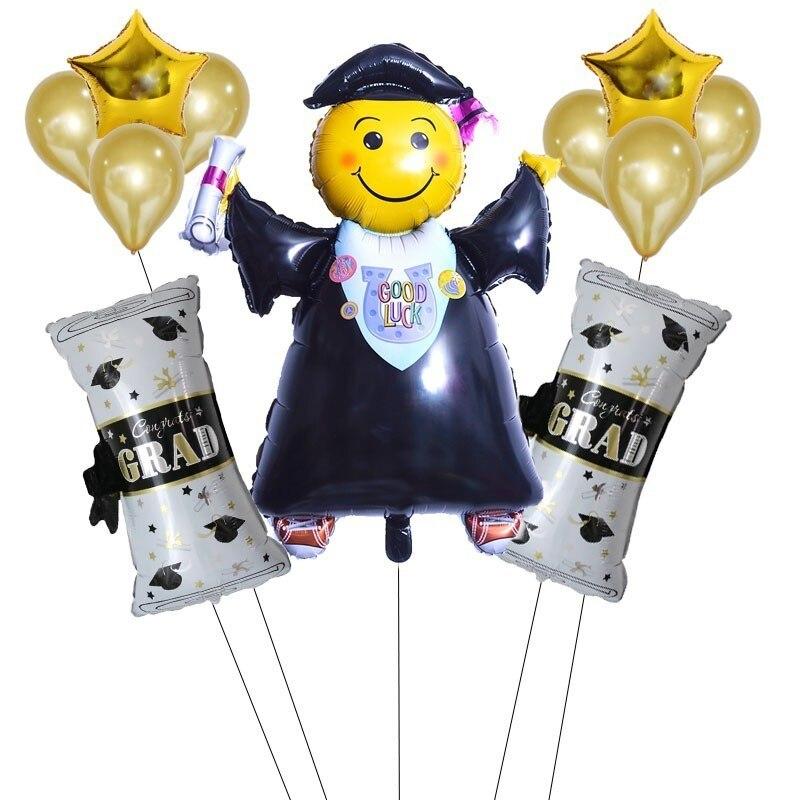 Globos de papel de aluminio para Doctor de graduación de 11 Uds. Decoraciones para la escuela regalos de felicitación Globos de graduación 2019 Globos de decoración