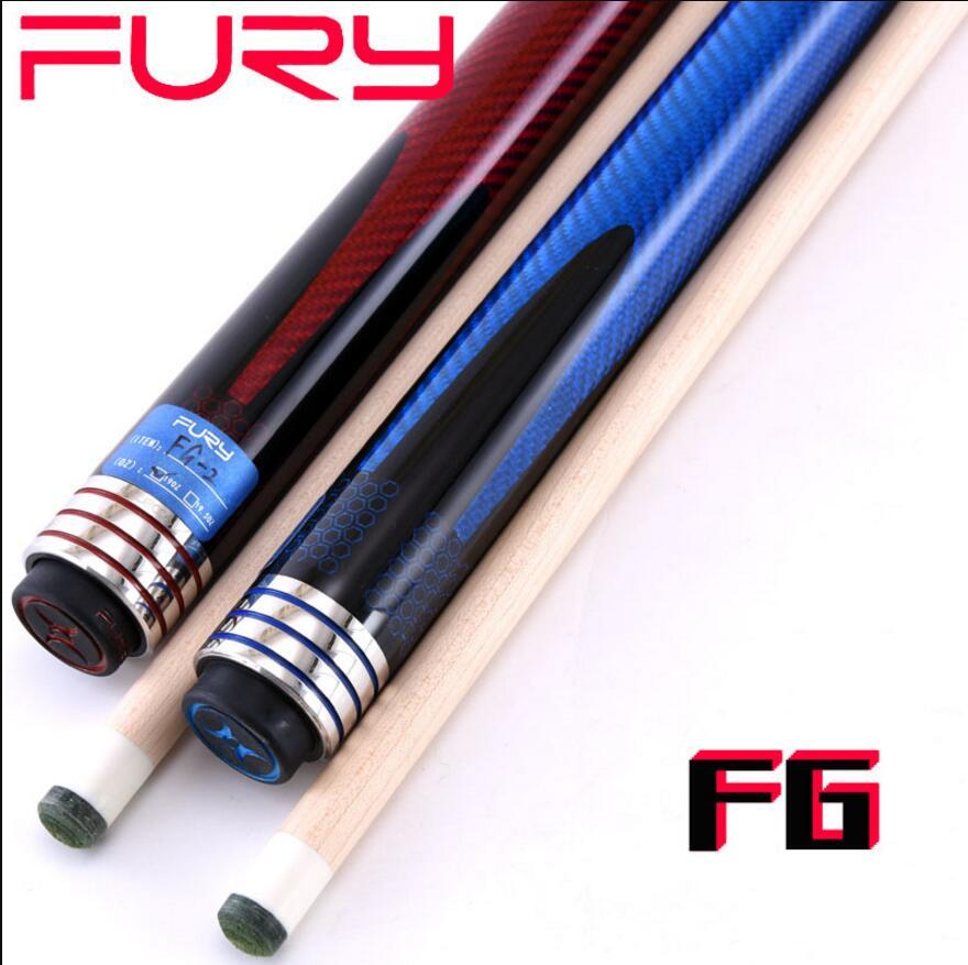 FURY FG Pool taco juego de palos de Billar 11,75mm 13mm punta 3K envoltura de tejido de carbono con funda para tacos de Billar conjunto profesional Billar 2019