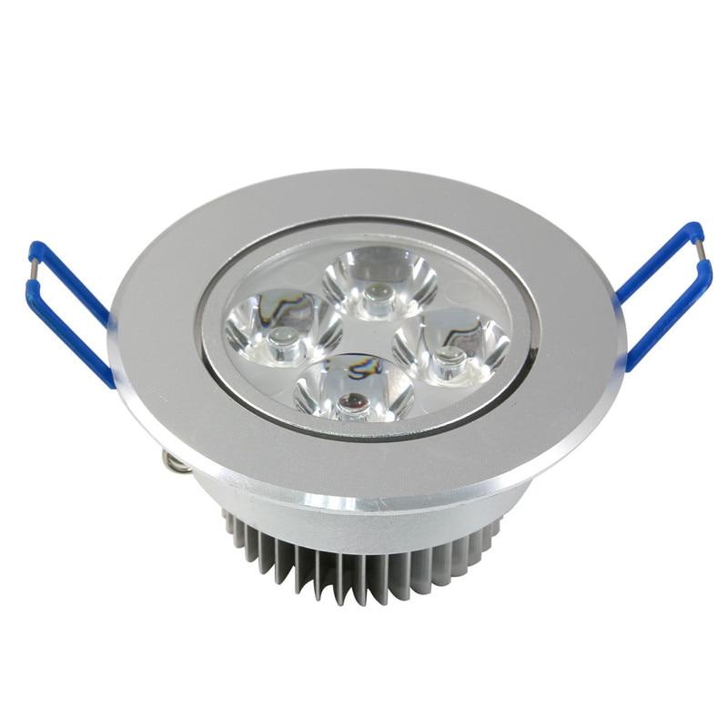 مصباح سقف LED غائر ، ضوء أبيض دافئ/بارد ، 4 وات
