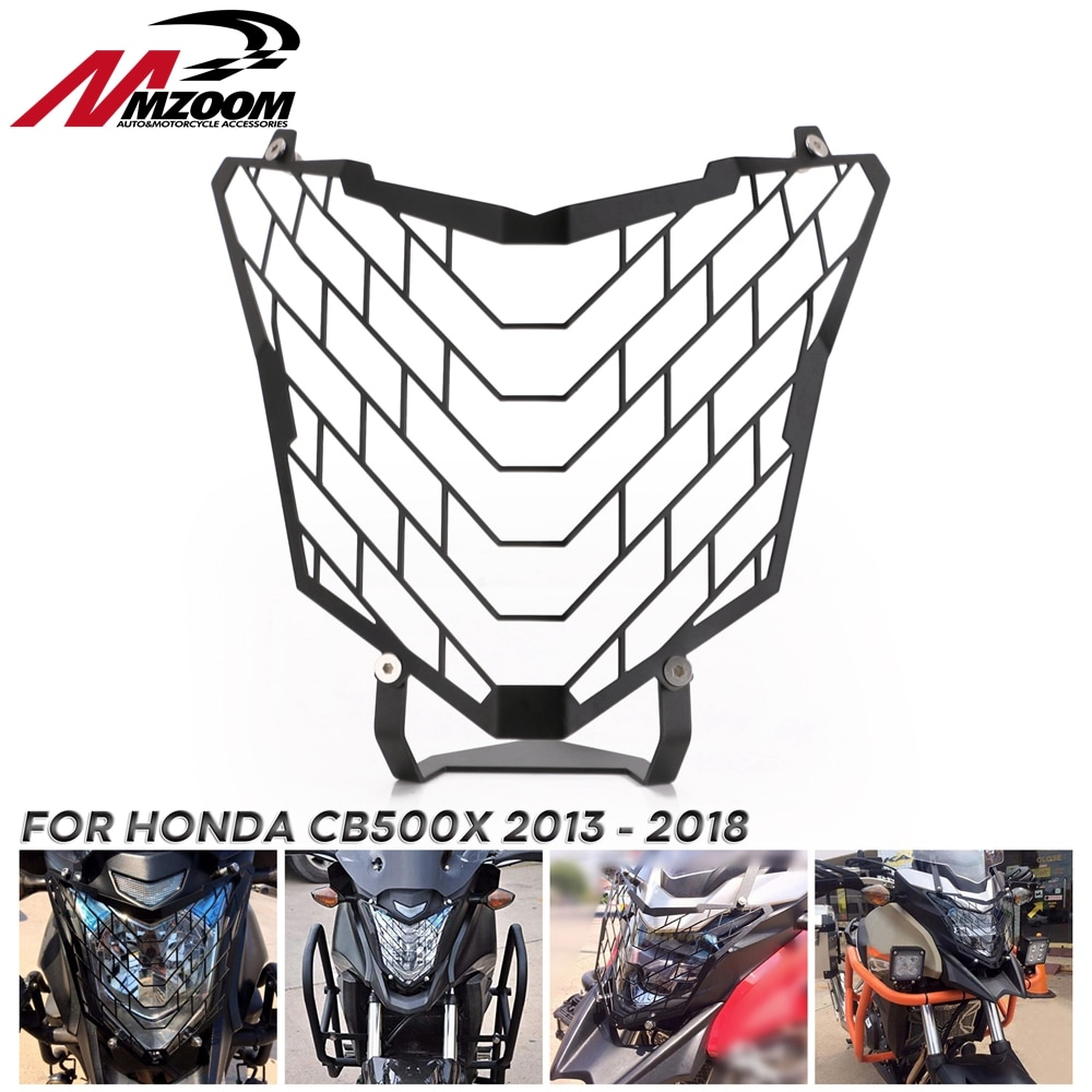 Linterna para cabeza de motocicleta, cubierta protectora para parrilla, Protector para Honda CB500X 2013 2014 2015 2016 2017 2018