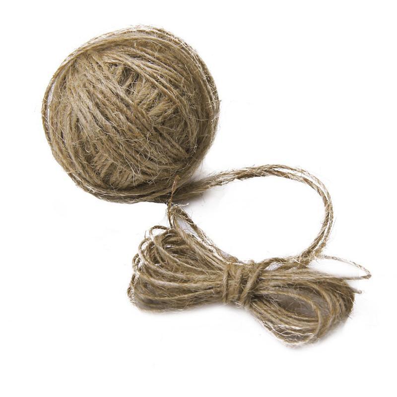 Cuerda Natural de yute de 30M para manualidades/materiales de embalaje Industrial/aplicaciones de jardinería (marrón)