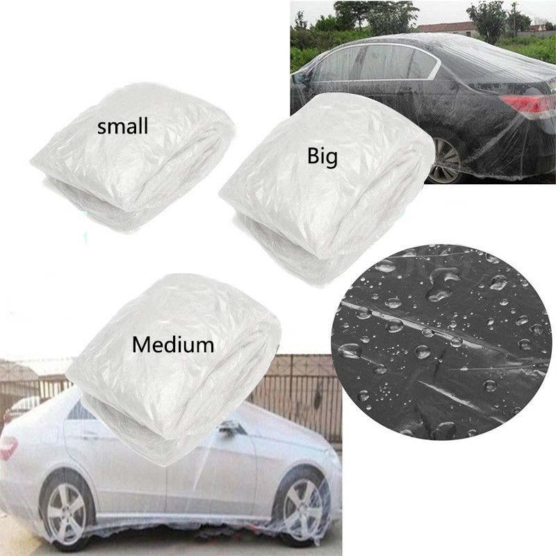Car Cover Clear Plastic Temporary Disposable Universal SUV Rain Dust Snow Garage