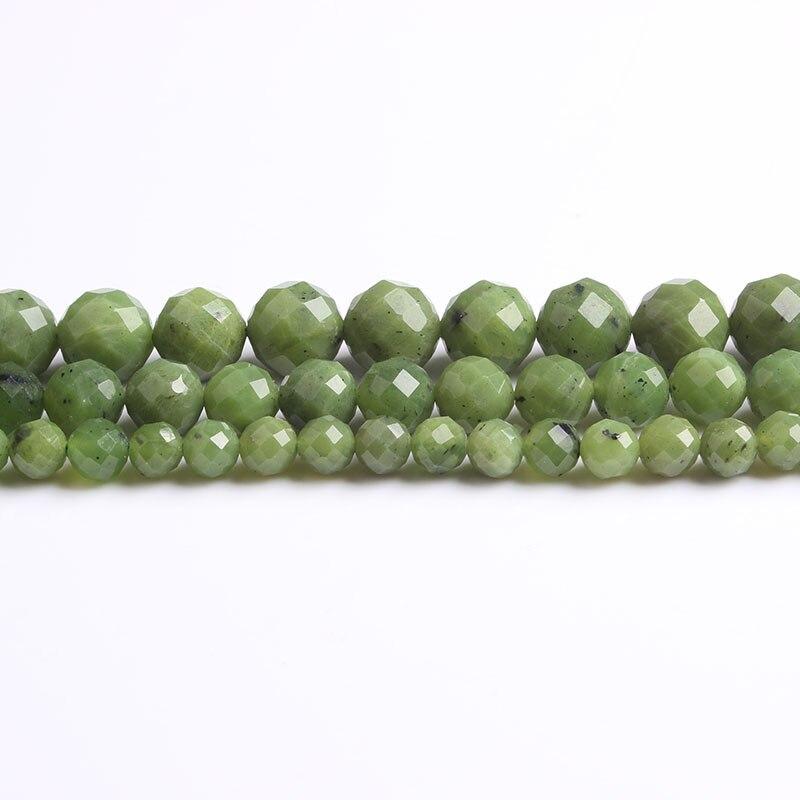 Lanli jóias naturais 6/8/10mm adicionar jades solta contas diy pulseira de homens e mulheres acessórios de tornozeleira