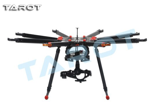 Free shipping TAROT X8 TL8X000 ALL Carbon Fiber Eight axis aircraft Multirotor Quadcopter frame X8 TL8X000