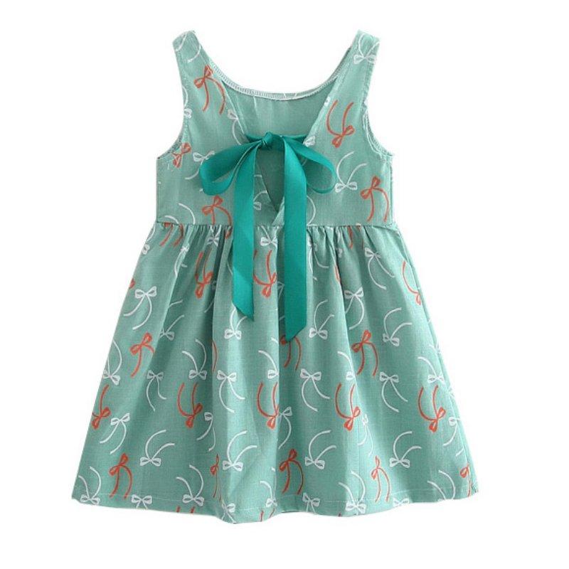 Vestido de verano con estampado de manga corta para niños, ropa de...