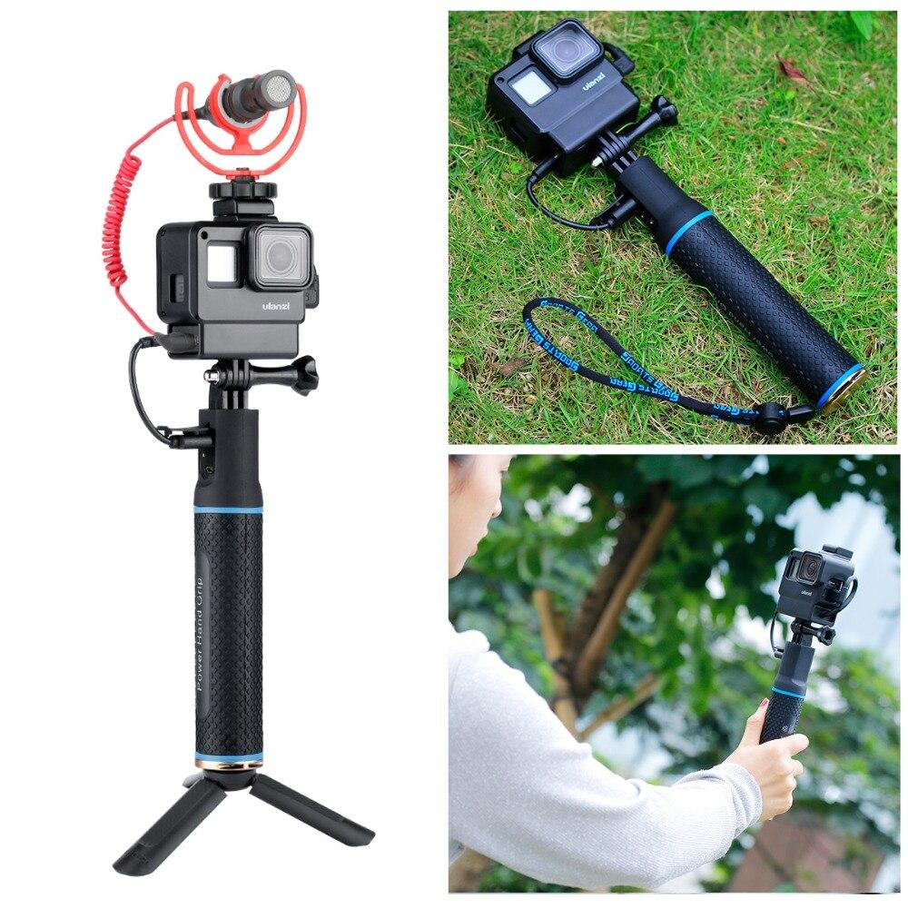 Für Gopro Käfig mit Power Bank Hand Grip Sport Kamera Fall für Gopro Hero 7 6 5, gopro7 Kamera Zubehör Stativ Montieren Unterstützung