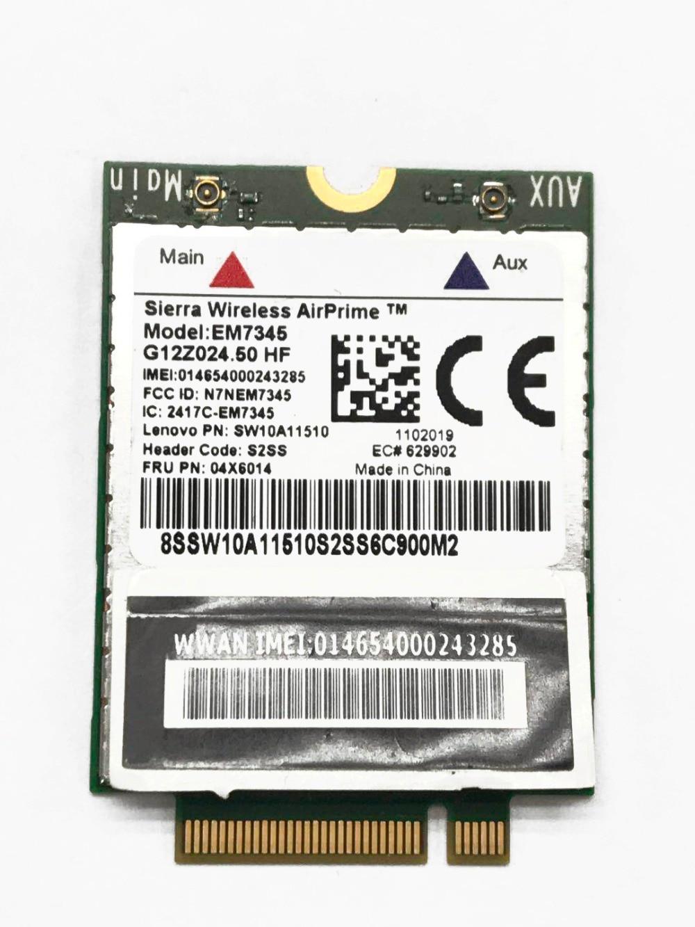 JINYUSHI offre spéciale!! EM7345 FRU 04X6014 neuf GOBI5000 Module 4G NGFF carte wwan pour thinkpad T440 W540 T440P T440s X240 X250