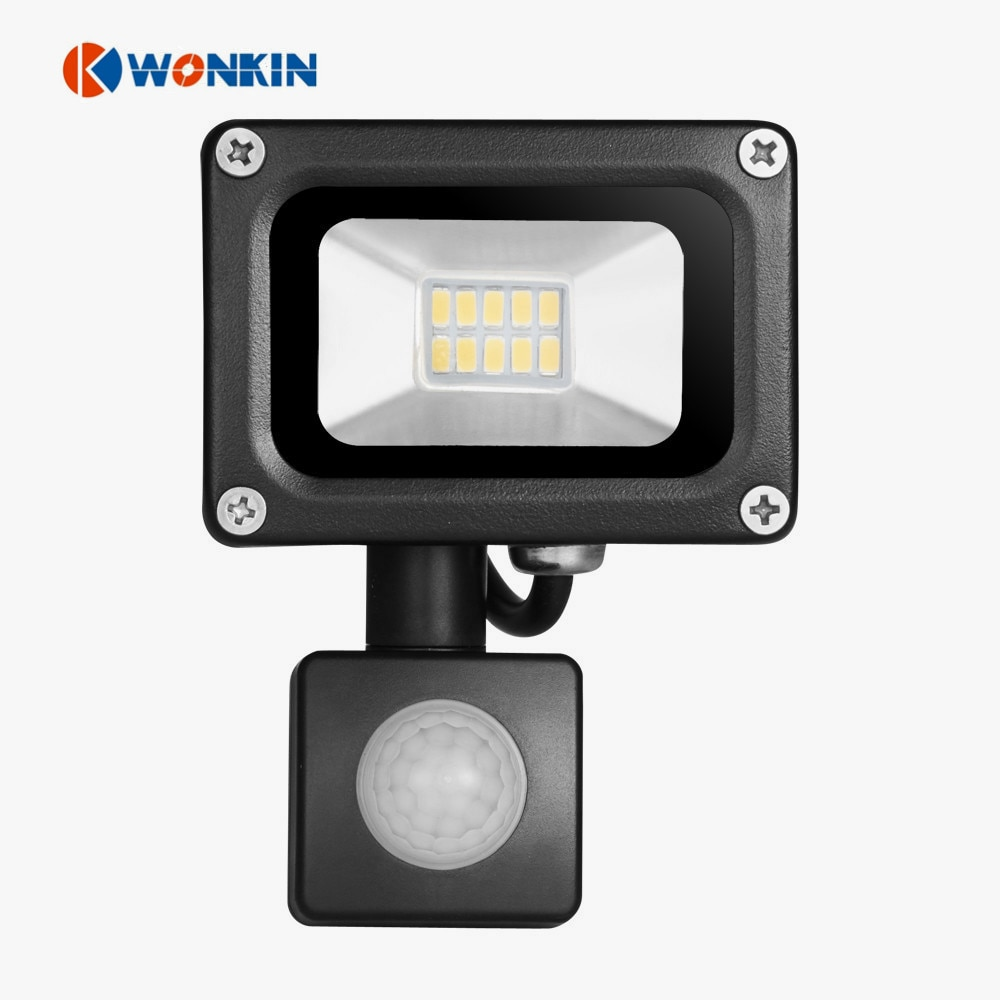 Reflector Led con Sensor de 10W para exteriores, lámpara SMD 5730, AC85-265V de reflectores para alumbrado público