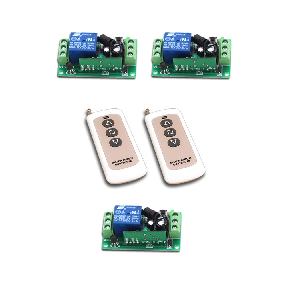 Promotion RF Wireless Remote Control Switch 1Channal Intelligent Family System 3XReceiver+2XWaterproof Transmitter with 3Buttons