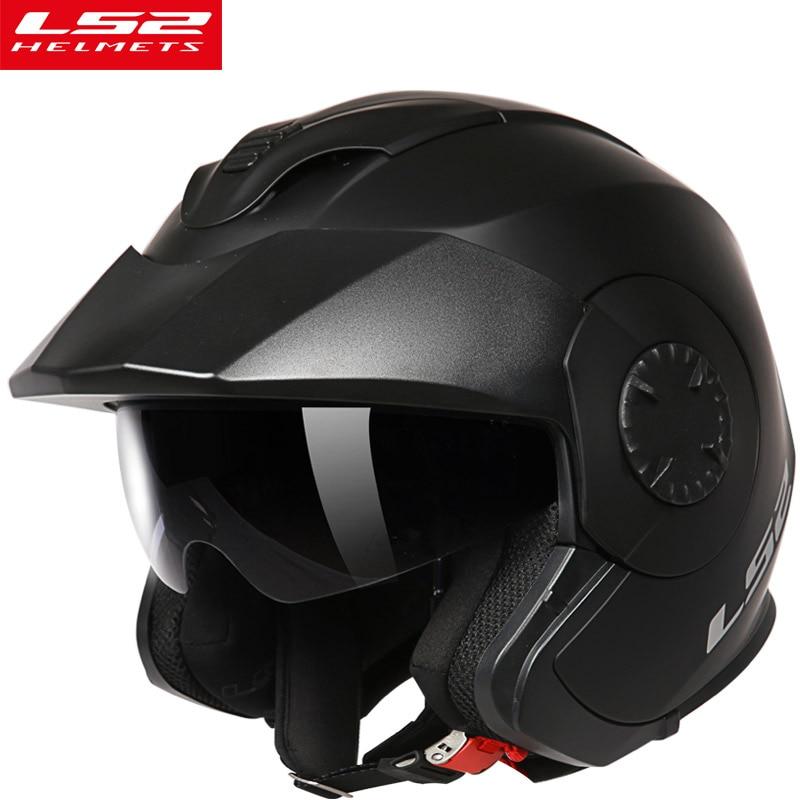 Мотоциклетный шлем LS2 Verso OF570, винтажные шлемы для мотоциклистов в стиле ретро с открытым лицом
