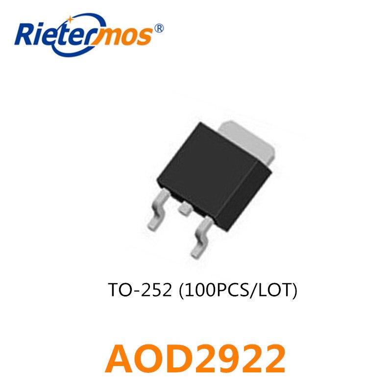 100 piezas AOD2922 D2922 100 V 5A-252 hecho en CHINA