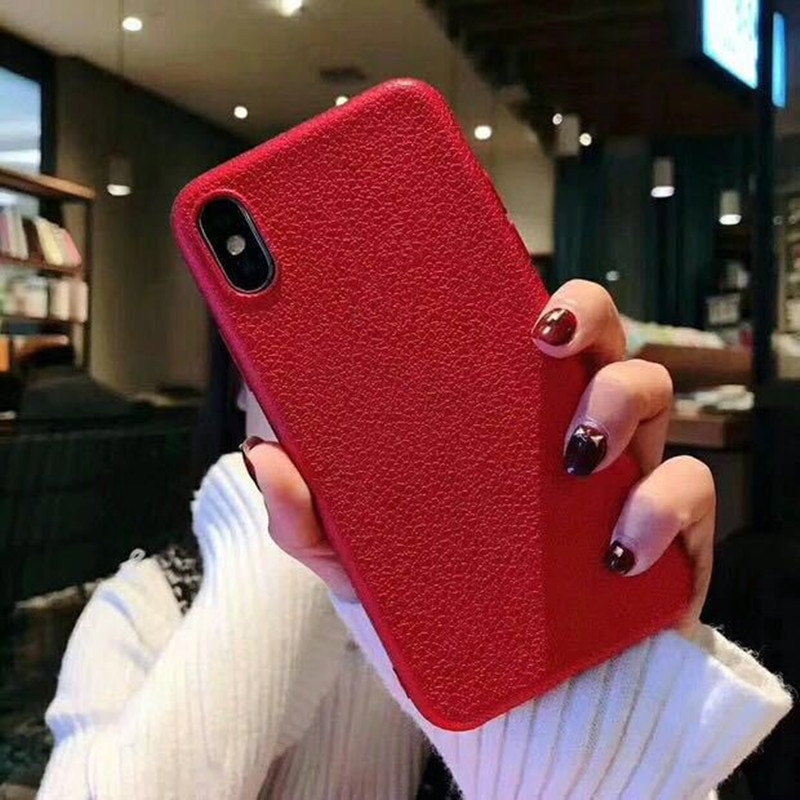 Casos de Telefone Ultra Fino Para o iphone 6S 6 7 8 Plus 10 X Tampa Da Pele De Couro Macio TPU Silicone case Para iPhone 5 6S 7 8 5S SE Shell