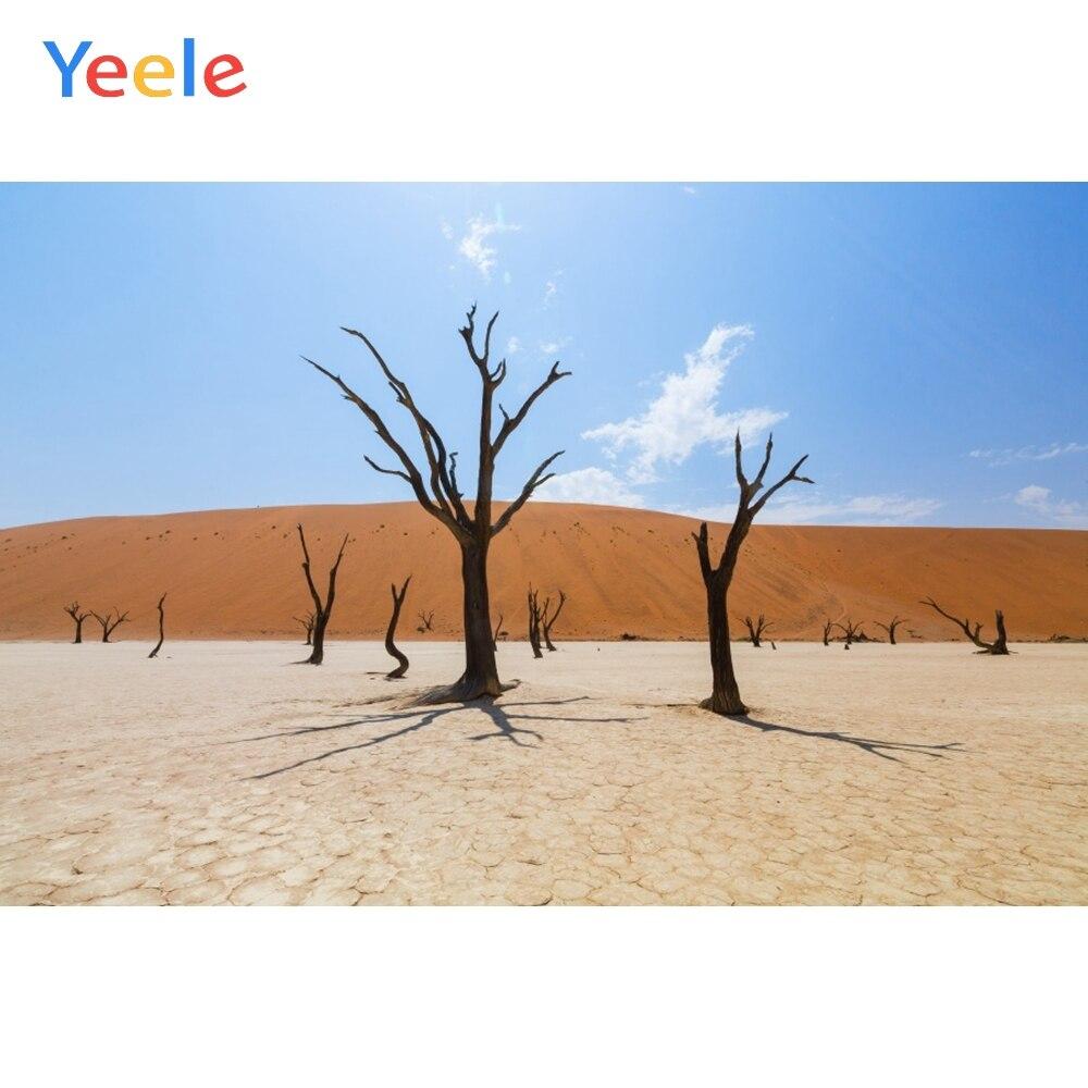 Fondo fotográfico personalizado para estudio fotográfico Yeele desierto seco árbol muerto naturaleza retrato escénico fotografía