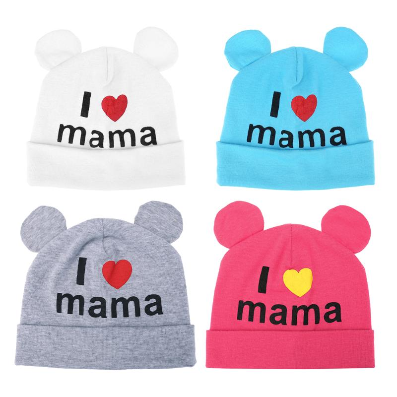 Bonitos gorros con orejas para bebés, gorros suaves para niños y niñas, gorros para bebés recién nacidos, gorros estampados, gorros