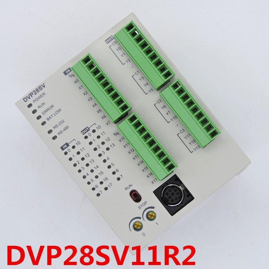 DVP28SV11R2 PLC 16DI 12DO, مخرج مرحل 24VDC في علبتها