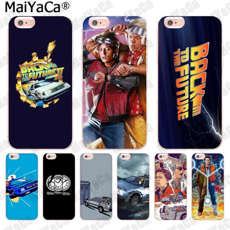Maiyaca filme de volta para o futuro moda caso de telefone celular para apple iphone 11 pro 8 7 66 s plus x 5S se xs xr xs max capa