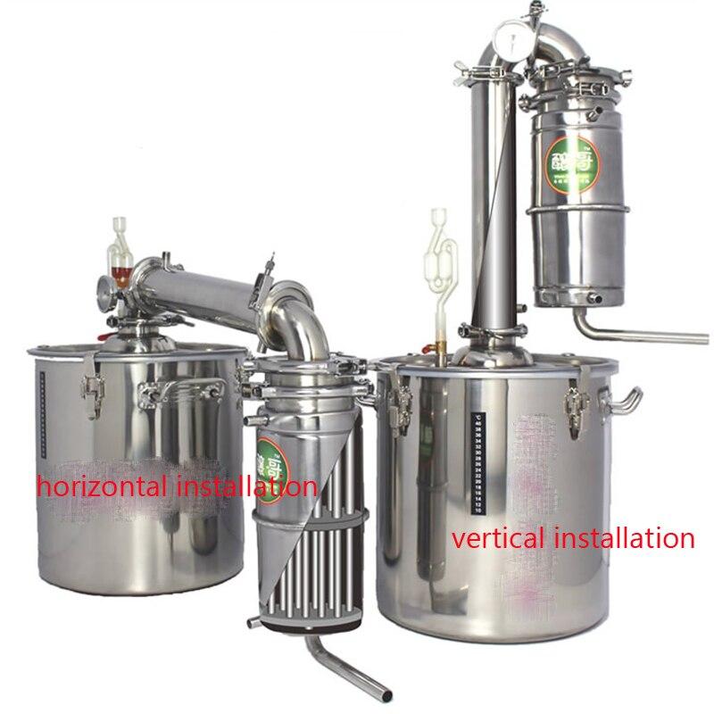 Casa 20l aço inoxidável máquina de cerveja vinho álcool vodka licor destilador pote/caldeiras equipamentos