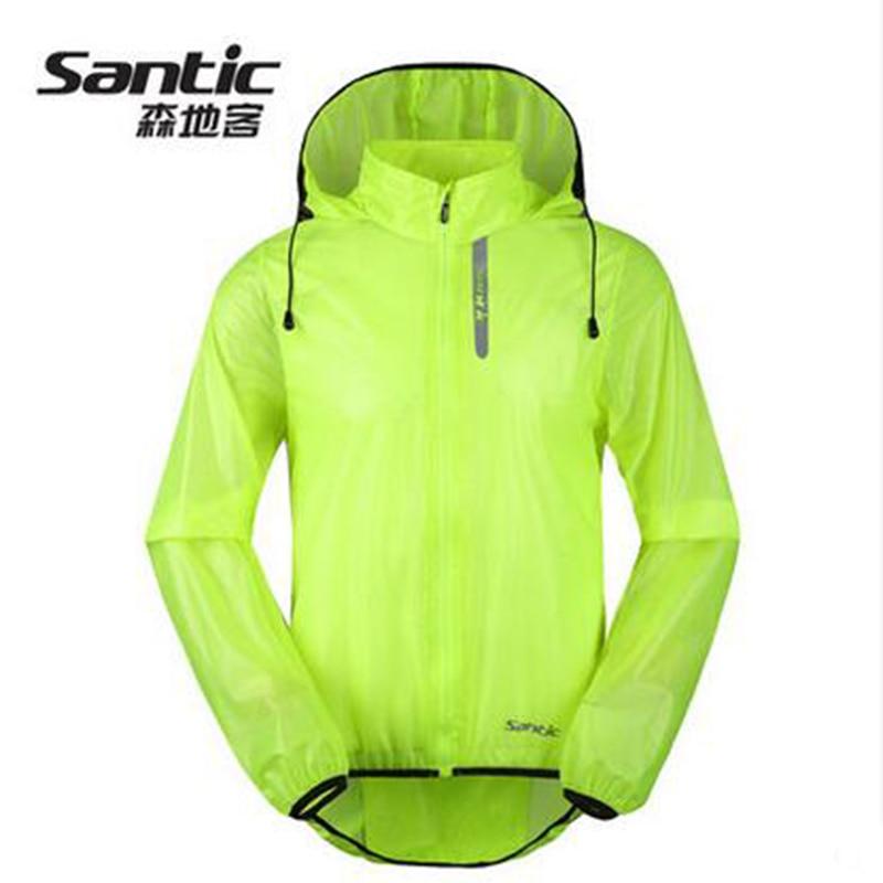 Santic verde ciclismo impermeable chaqueta hombres impermeable ciclismo de montaña al aire libre camiseta de ciclismo downhill Anti-pilling ciclismo SK0026