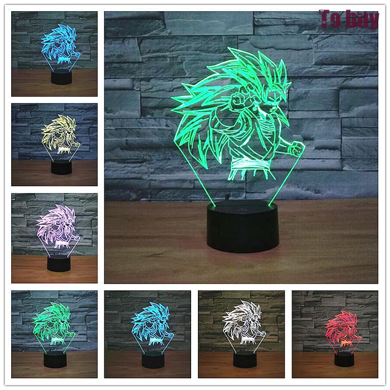 Lámpara Led 3d de 7 colores para fiestas, ambiente decorativo, caballo, iluminación 3d, luz nocturna, lámpara 3d con Interruptor táctil/remoto
