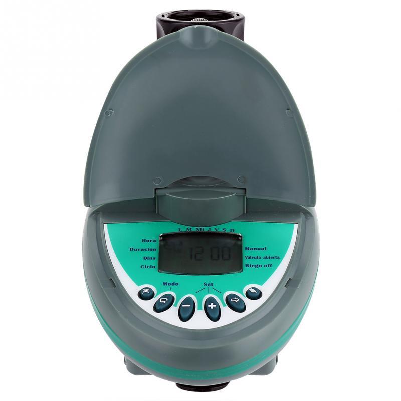 Pantalla LCD inteligente automática, temporizador electrónico de agua para jardín, sistema de riego, controlador de soporte para lluvia