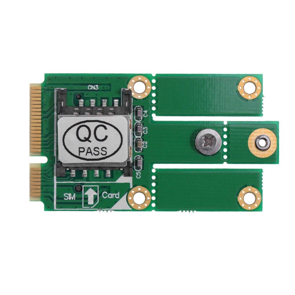 M2 NGFF B llave a Mini conversor de pci-e tarjeta adaptadora con ranura para tarjeta SIM soporte 3G 4G LTE red para ordenador con puerto Mini pci-e