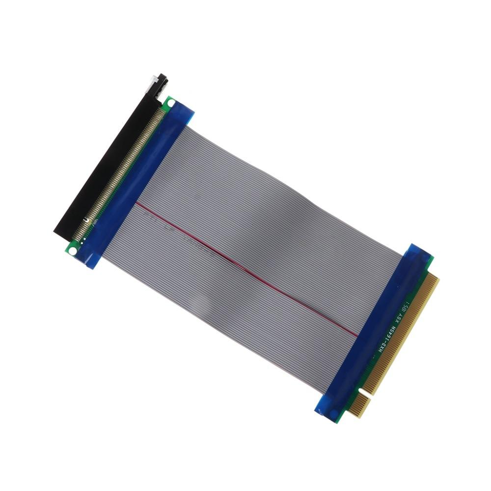Горячий PCIe 16X PCI Express PCI-E 16X папа к 16X гнездо слота переходника удлинитель карты гибкий кабель 15 см C26