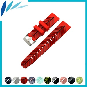 Silicone Rubber Watch Band 22mm for Breitling Quick Release Resin Strap Wrist Loop Belt Bracelet Black Blue Green Red + Pin