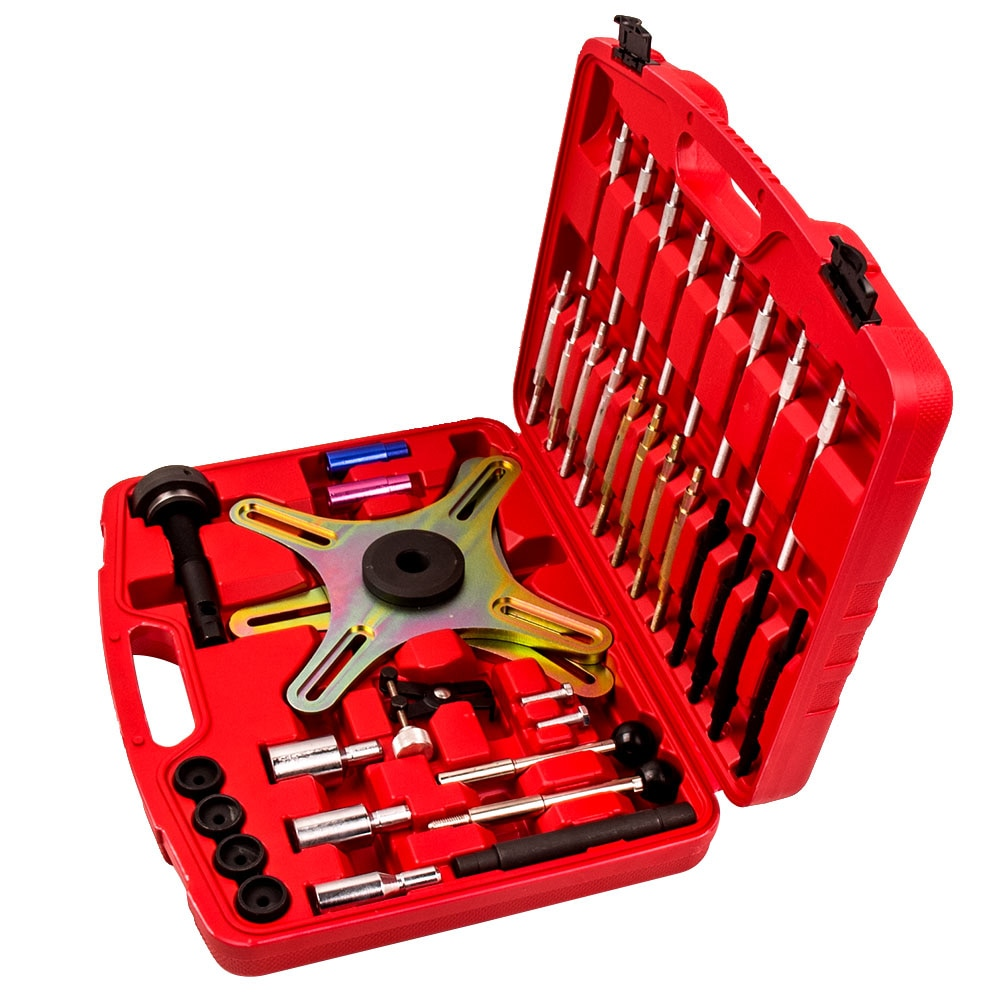 Kit de herramientas de ajuste, de ajuste de alineación de embrague automático, 38 piezas, conjunto de bolsa Universal para VW BMW Ford Opel