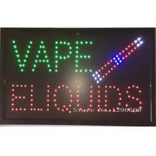 60X33 CM Neue große vape eliquids E-Cig Flüssigkeit Dampf Vape Saft Zubehör rohr stift tabak LED shop business Zeichen