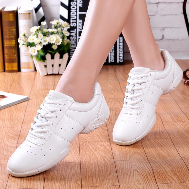 Aerobics Shoes Children Adult Fitness Gymnastics Sports Dance Shoes Jazz Sneakers Cheerleading Shoes