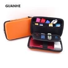 GUANHE nouveau 2.5 pouces 3 couleurs grand câble organisateur sac étui de transport HDD USB lecteur Flash carte mémoire batterie externe pour téléphone 3ds