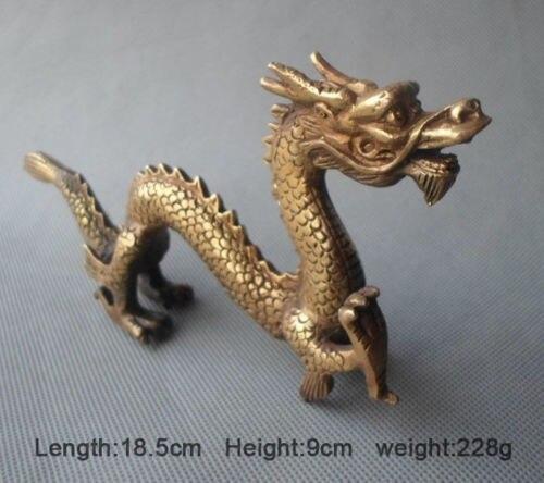 Бронзовая резная ценная китайская статуя счастливого дракона, украшение для дома, подарок, металлическая ручная работа